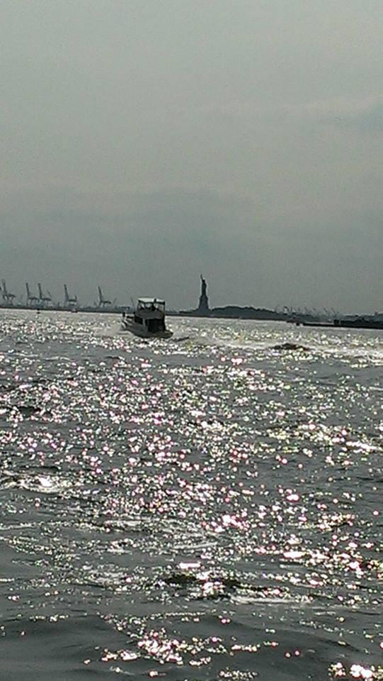 the-boat-and-miss-liberty--Jan Wayne Fields