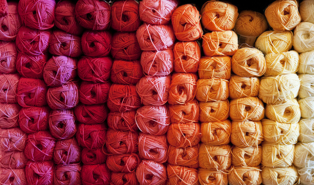 rolls of yarn